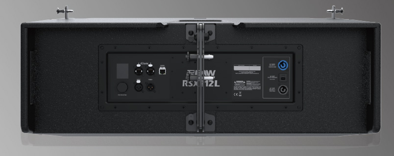 EAW Radius RSX212L rear panel DSP array
