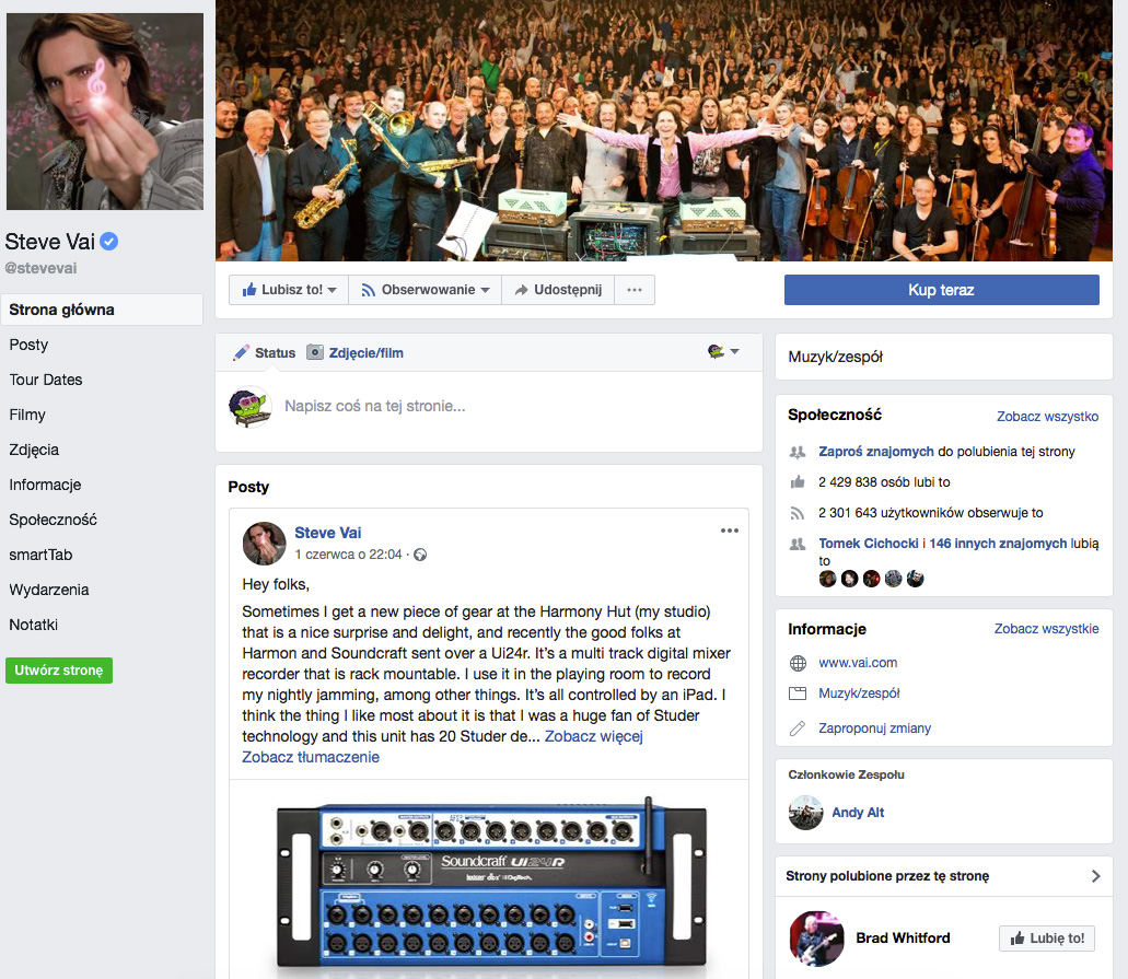 Soundcraft Ui24r Steve Vai Facebook
