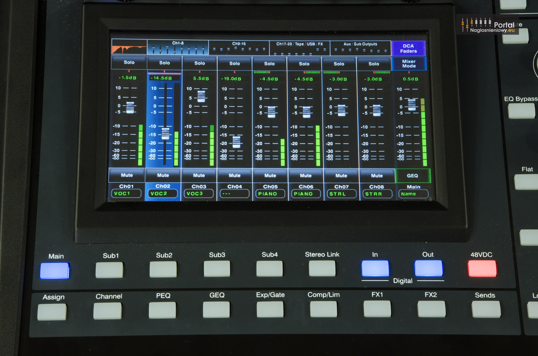 Ashly digiMIX24 LCD LongFaders