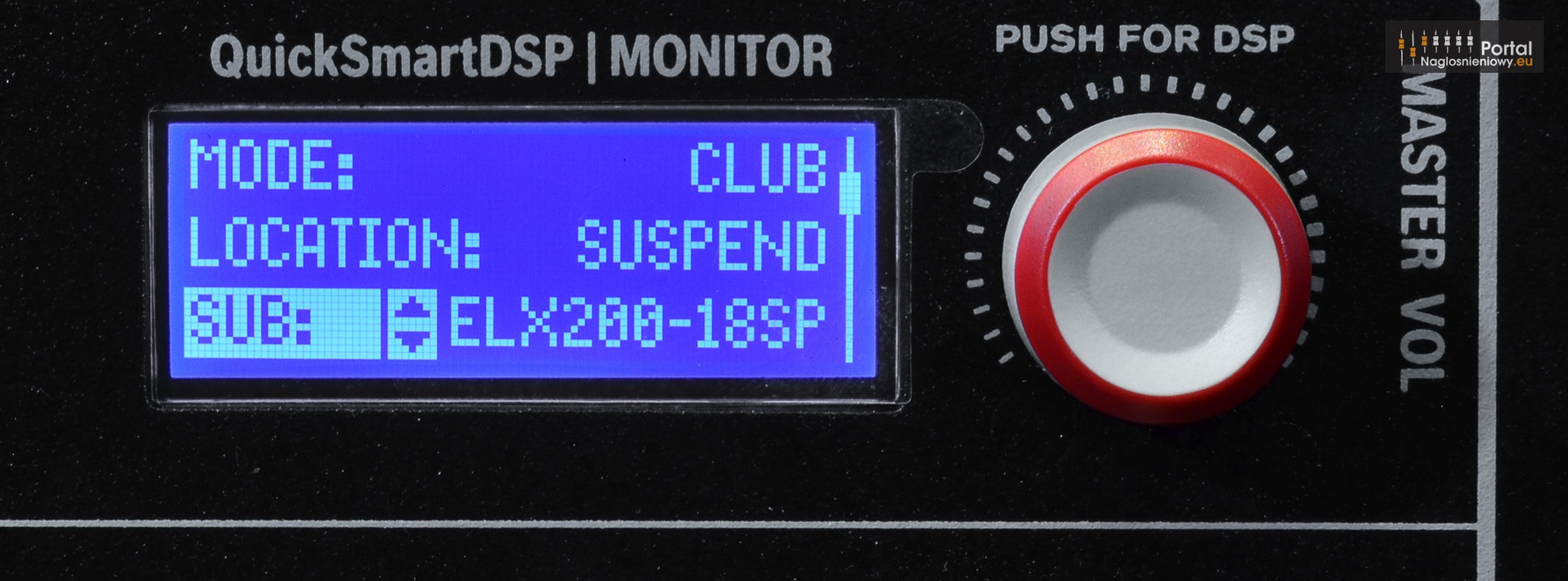 Electro Voice ELX200 12P LCD Mode Location Sub