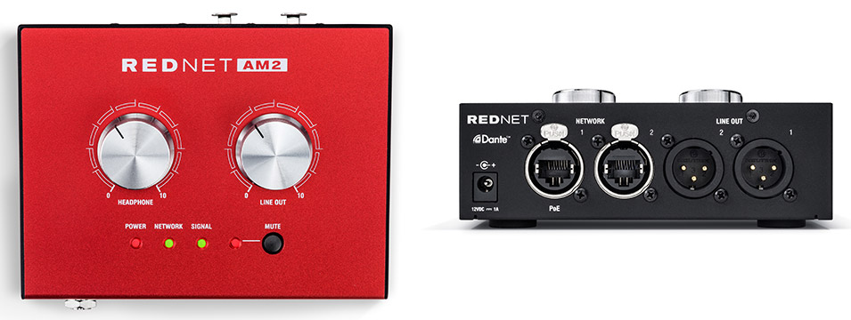 Focusrite RedNet am2 front rear