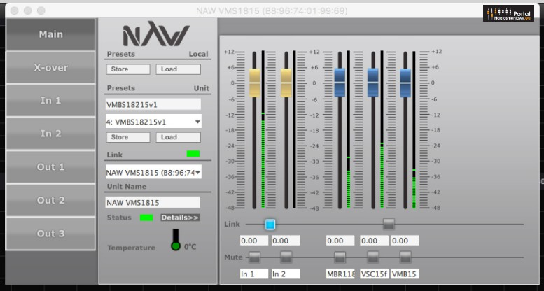 NAW Performance Audio VMBS 18215 DSP mix