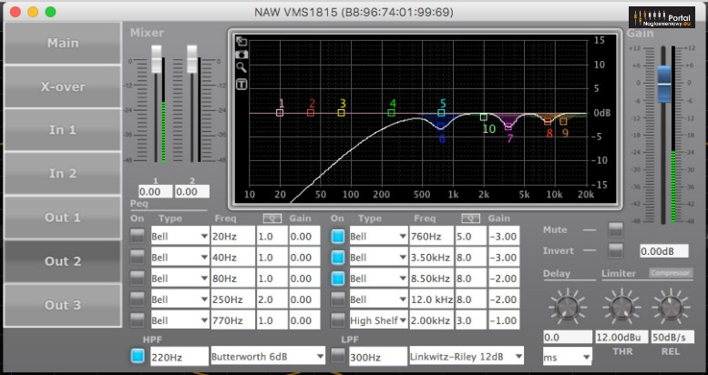 NAW Performance Audio VMBS 18215 VSC15F DSP EQ