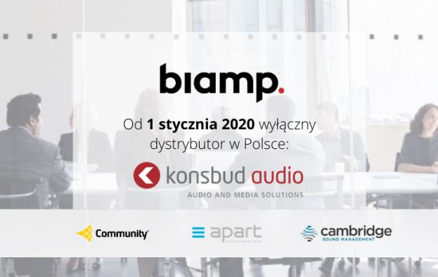 Konsbud Audio polskim partnerem firmy BIAMP i marek BIAMP, APART AUDIO, COMMUNITY, CAMBRIDGE SOUND MANAGEMENT